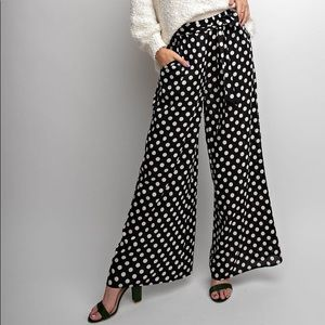Polka Dot Pants - Black/off white